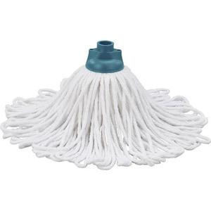 Rezerva mop LEIFHEIT Classic, 23cm, bumbac, alb-turcoaz
