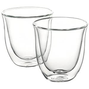 Set pahare DE LONGHI CAPUCCINO2, 2 piese, 0.19l, sticla, transparent