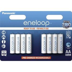 Acumulatori PANASONIC Eneloop LR6/AA, 1900mAh, 8 bucati