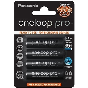 Acumulatori PANASONIC Eneloop Pro LR6/AA, 2500mAh, 4 bucati