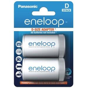 Adaptor acumulatori PANASONIC Eneloop Spacers, D/R20, 2 bucati