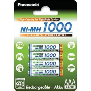 Acumulatori PANASONIC Eneloop HighCapacity LR03/AAA, 1000mAh, 4 bucati