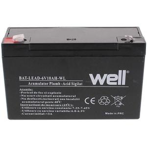 Acumulator plumb acid  WELL BAT-LEAD-6V10AH-WL, 6V, 10 Ah