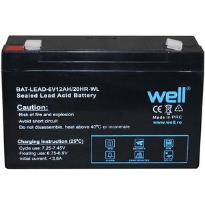 Acumulator plumb acid  WELL BAT-LEAD-6V12AH-WL, 6V, 12 Ah