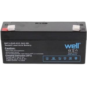Acumulator plumb acid  WELL BAT-LEAD-6V3.3AH-WL, 6V, 3.3 Ah