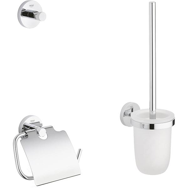 Set accesorii baie GROHE Essentials City 3in1 40407001, 3 accesorii, crom