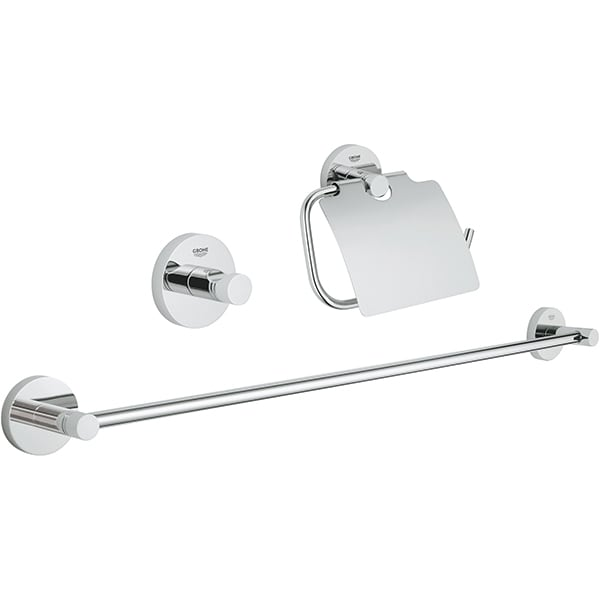 Set accesorii baie GROHE Essentials 3in1 40775001, 3 accesorii, crom