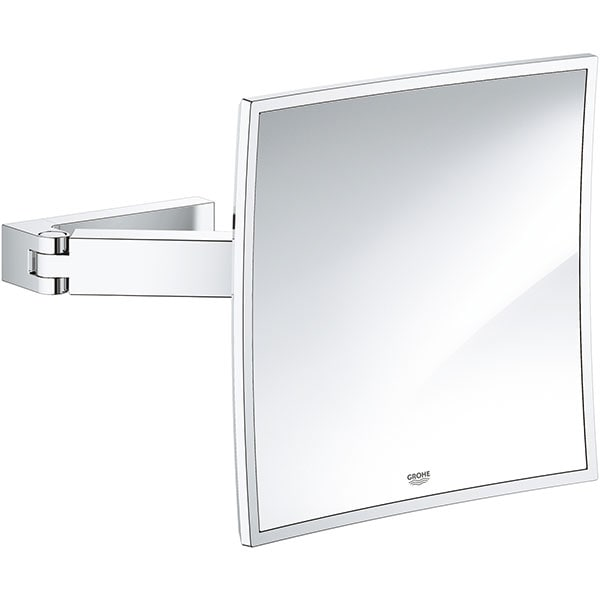 Oglinda cosmetica GROHE Selection Cube 40808000, amplificare 3x, argintiu