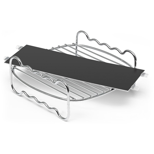 Set de accesorii friteuza PHILIPS HD9950/00, argintiu-negru