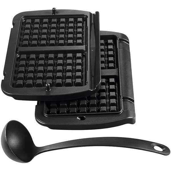 Set 2 placi goffre TEFAL OptiGrill+ XA723812, negru
