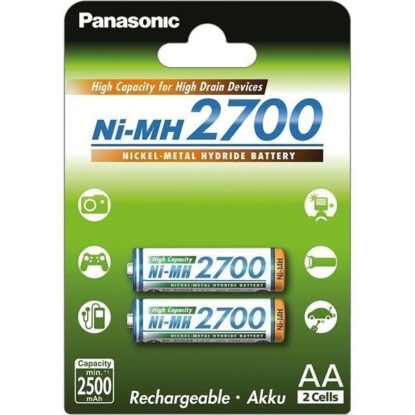 Acumulatori PANASONIC Eneloop HighCapacity LR6/AA, 2700mAh, 2 bucati