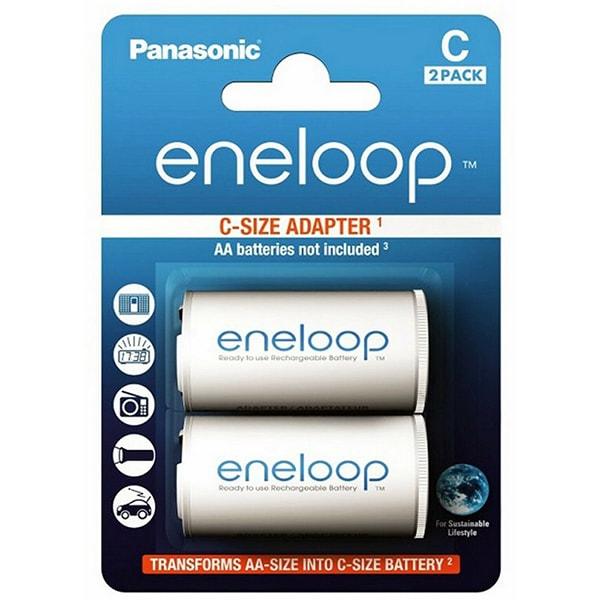 Adaptor acumulatori PANASONIC Eneloop Spacers, LR14/C 2 bucati