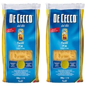 Paste Fusilli DE CECCO, 1kg, 2 bucati