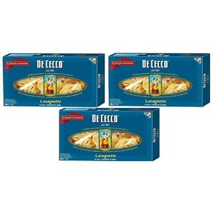 Paste Nidi Semola Lasagnette DE CECCO, 500g, 3 bucati
