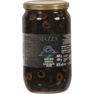 Masline negre rondele MAZZA, 800g