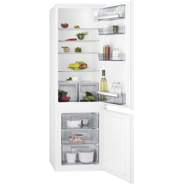 Combina frigorifica incorporabila AEG SCB618F3LS, Low Frost, 267 l, H 178 cm, Clasa F, alb