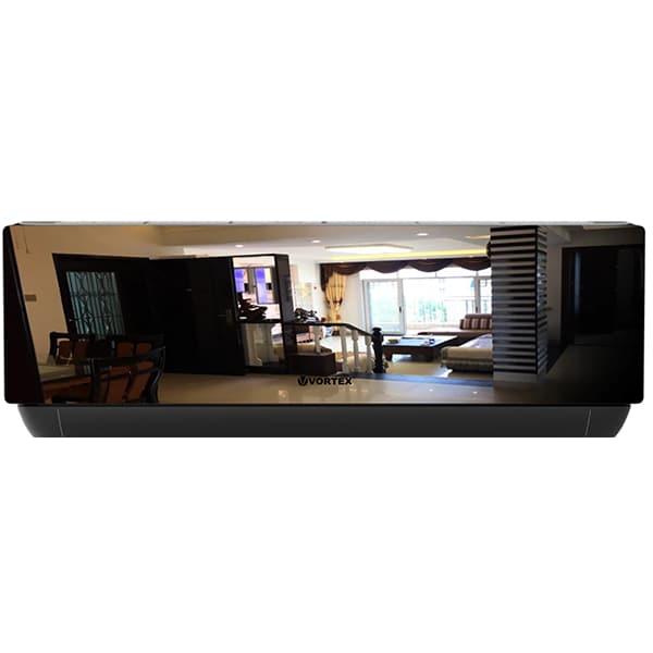 Aer conditionat VORTEX VAI2420JPMRBW, 24000 BTU, A++/A+, Wi-Fi, kit instalare inclus, negru-oglinda