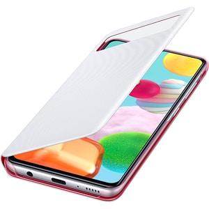 Husa S-View Wallet pentru SAMSUNG Galaxy A41 EF-EA415PWEGEU, alb