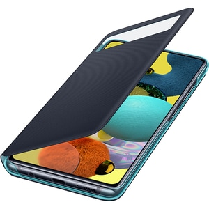 Husa S-View Wallet pentru SAMSUNG Galaxy A51 (5G) EF-EA516PBEGEU, negru