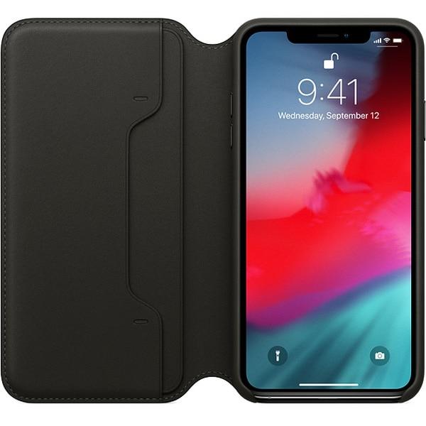 Husa Leather Folio APPLE pentru iPhone Xs Max, MRX22ZM/A, Black