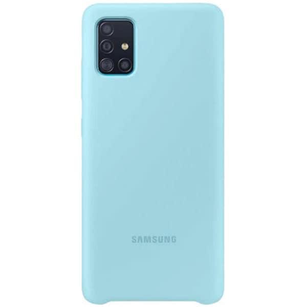 Carcasa pentru SAMSUNG Galaxy A71, EF-PA715TLEGEU, silicon, albastru