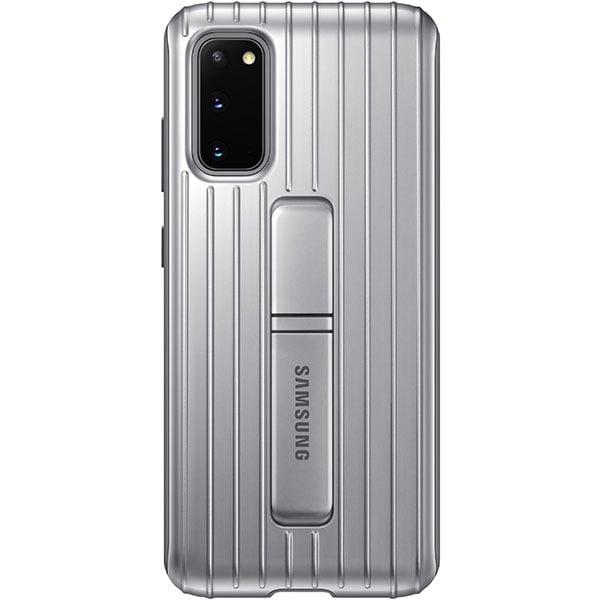 Husa Protective Standing pentru SAMSUNG Galaxy S20, EF-RG980CSEGEU, argintiu