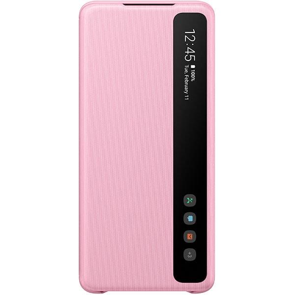 Husa Clear View pentru SAMSUNG Galaxy S20 Plus, EF-ZG985CPEGEU, roz