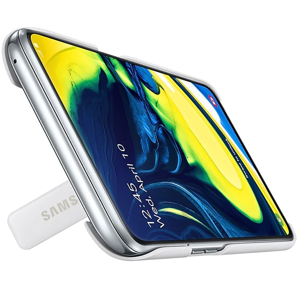 Carcasa Stand pentru SAMSUNG Galaxy A80, EF-PA805CWEGWW, alb