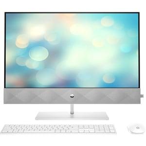 "Sistem PC All in One HP Pavilion 27-d0000nq, Intel Core i7-10700T pana la 4.5GHz, 27"" QHD, 16GB, SSD 512GB, NVIDIA GeForce MX350, Free DOS, alb"
