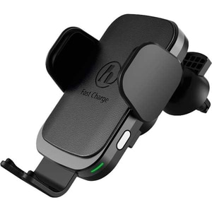 Suport auto cu incarcare wireless HAMA FC10 Motion 188300, ventilatie/parbriz/bord, Qi, negru