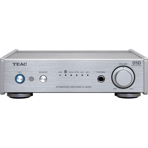 Amplificator stereo TEAC AI-301DA-X-S, 120W, Bluetooth, USB DAC, argintiu