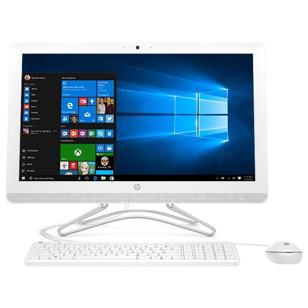 """Sistem PC All in One HP 24-f0017nq, 23.8"""" Full HD, Intel Core i3-8130U pana la 3.4GHz, 4GB, 1TB, Intel UHD Graphics 620, Windows 10 Home"""