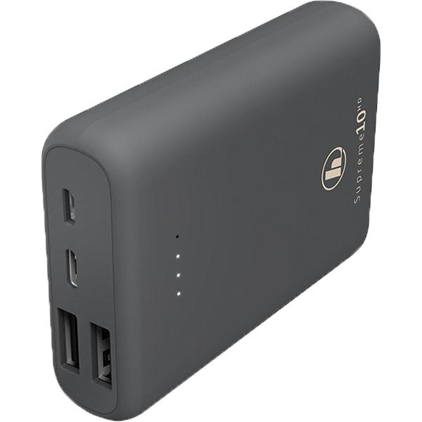 Baterie externa HAMA 188307, 10000mAh, 1xType C, 2xUSB, 1xMicroUSB, gri