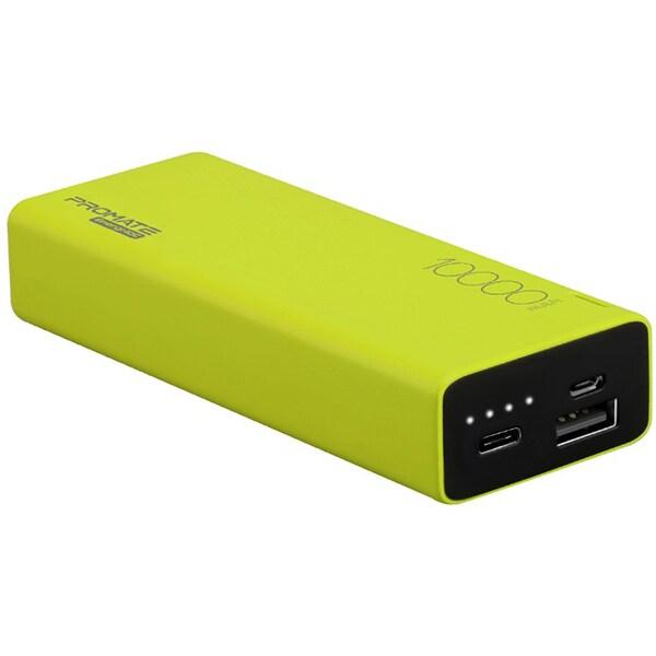 Baterie externa PROMATE Energi-10C 10000mAh, 1xUSB, 1xType C, verde