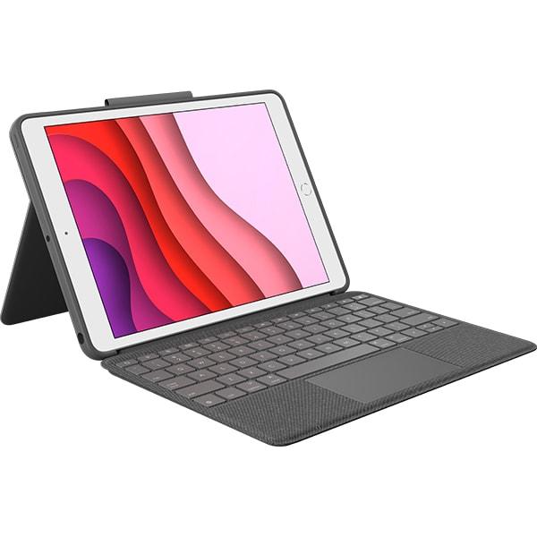 Husa cu tastatura LOGITECH Combo Touch pentru iPad 7th Gen, 920-009629, negru