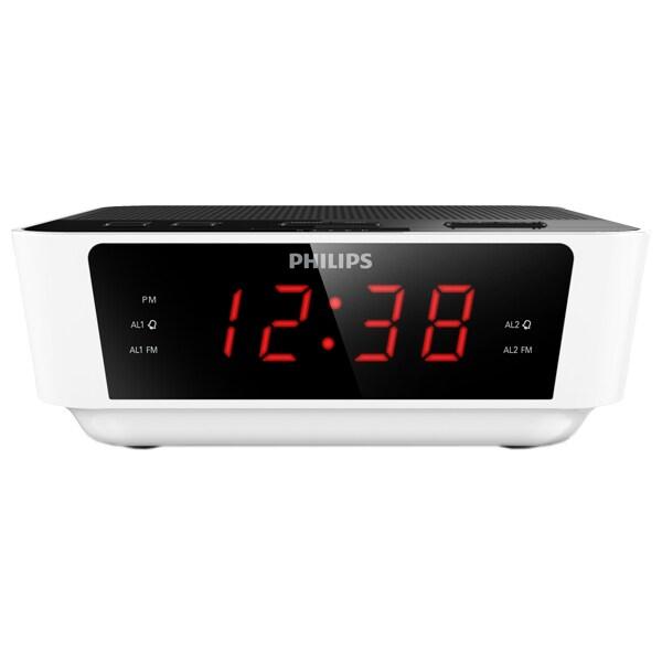 Radio cu ceas PHILIPS AJ3115/12, FM, Buzzer, alb