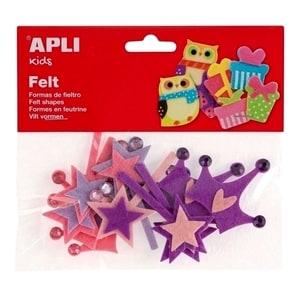 Set creativ APLI Printese, 12 bucati, diverse modele