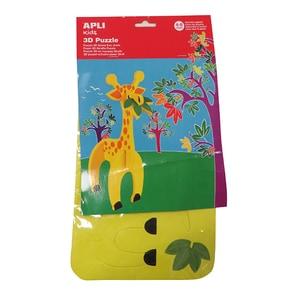 Puzzle din spuma 3D APLI, girafa, 4-8 ani, multicolor