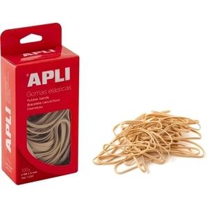 Elastice pentru bani APLI, 200 mm, latime 10 mm, 100 g/punga