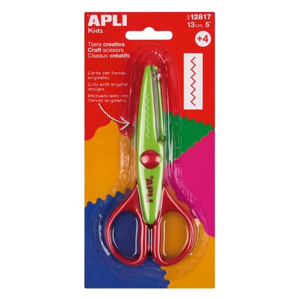 Foarfeca creativa APLI, 13 cm, plastic, verde