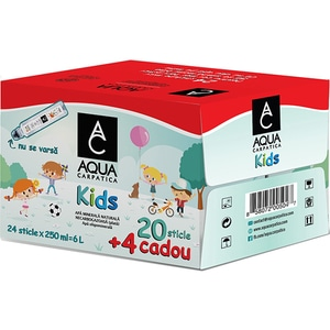 Apa plata AQUA CARPATICA Kids Promo bax 0.25L x 24 sticle