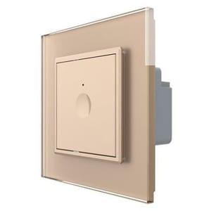 Intrerupator smart simplu LIVOLO 722600313 + C7-SR-13, Wi-Fi, Touch, auriu