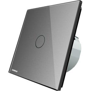 Intrerupator touch simplu LIVOLO VL-C701-15, incastrat, 5A, IP44, gri