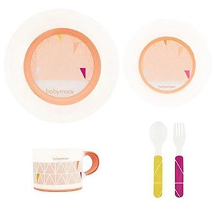 Set complet de hranire BABYMOOV A005509, 6 luni +, 5 piese, multicolor