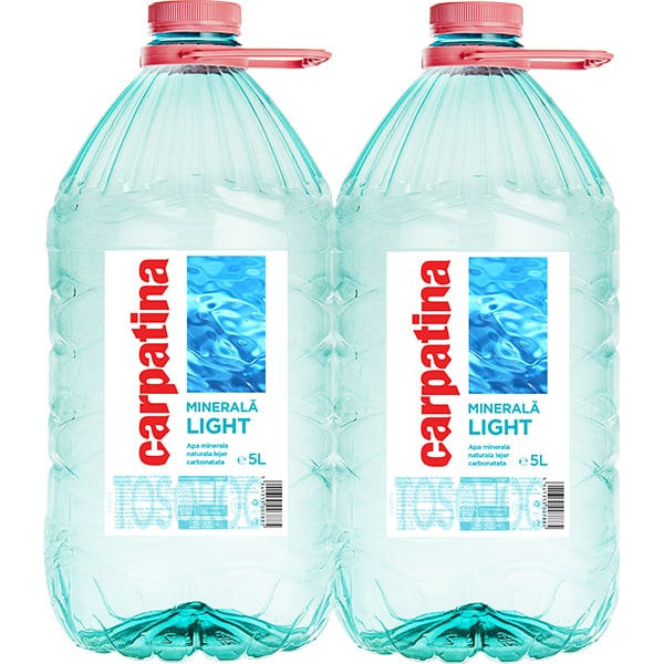 Apa minerala CARPATINA Light bax 5L x 2 sticle