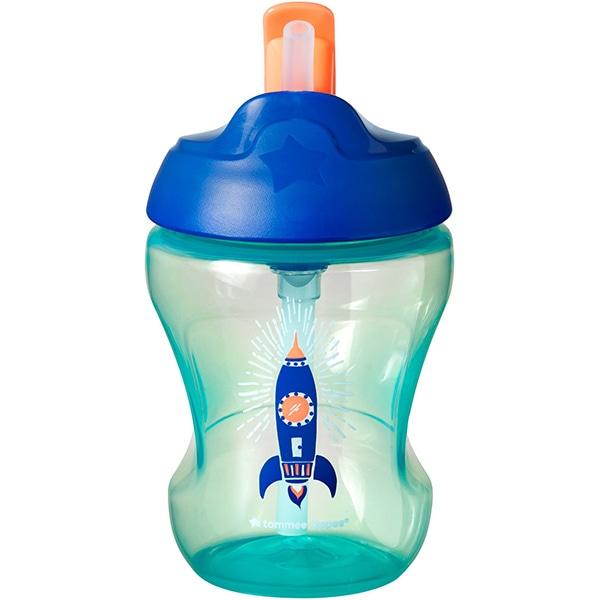 Cana cu pai TOMMEE TIPPEE ONL Racheta TT0238, 7 luni+, 2300 ml, verde-albastru