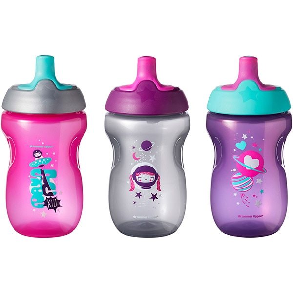 Set cani TOMMEE TIPPEE ONL fete TT0244, 12 luni+, 300 ml, 3 buc, multicolor