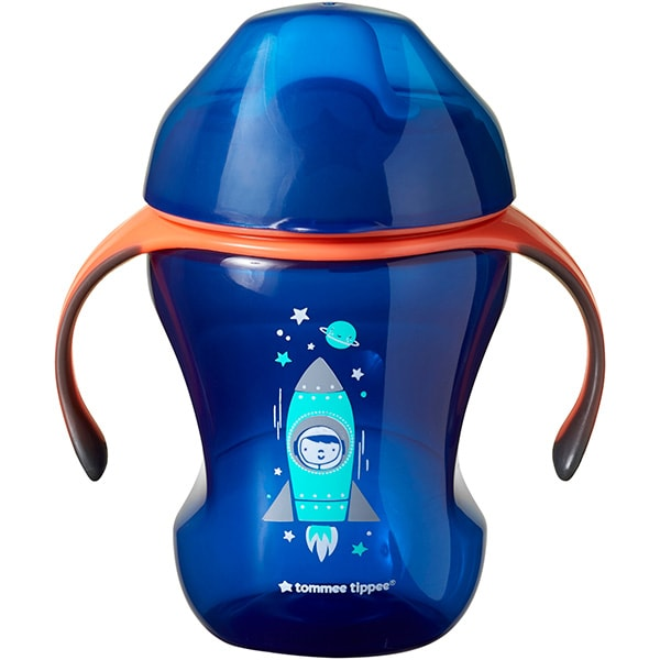 Cana TOMMEE TIPPEE Easy Drink TT0260, 7 luni+, 230 ml, albastru-portocaliu