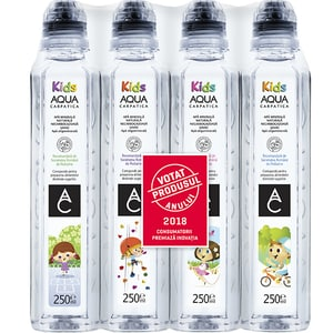 Apa plata AQUA CARPATICA Kids bax 0.25L x 12 sticle