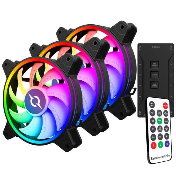 Kit 3 ventilatoare AQIRYS Libra, 120mm, KR12SL22RGB